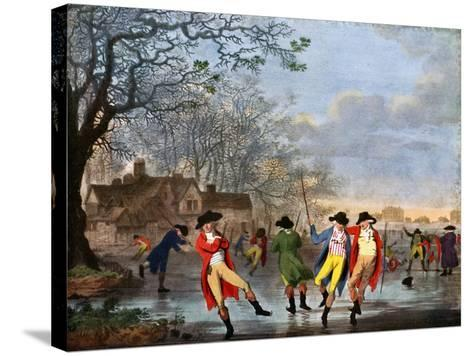 Winter Amusement: a View in Hyde Park from the Moated House, Late 18th Century- Tookey-Stretched Canvas Print
