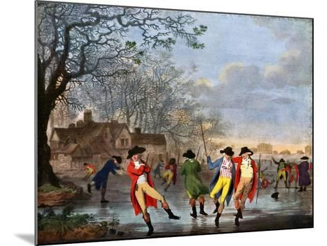 Winter Amusement: a View in Hyde Park from the Moated House, Late 18th Century- Tookey-Mounted Giclee Print