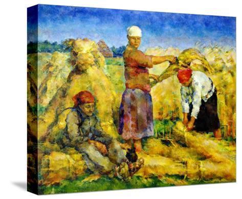 The Harvest, 1925-Vasily Rozhdestvensky-Stretched Canvas Print