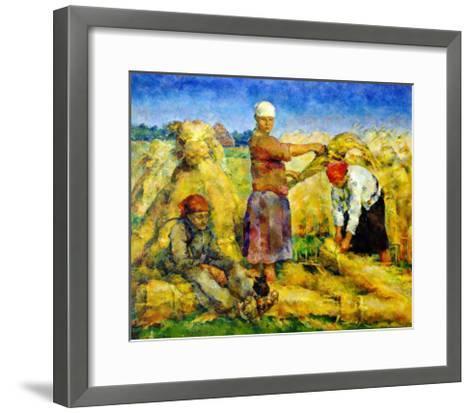 The Harvest, 1925-Vasily Rozhdestvensky-Framed Art Print