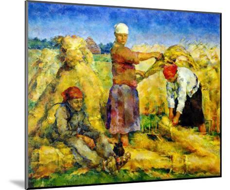 The Harvest, 1925-Vasily Rozhdestvensky-Mounted Giclee Print