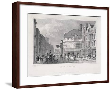 Fleet Street, London, 1831-W Henshall-Framed Art Print