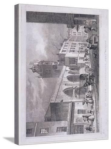 St Giles Without Cripplegate, London, 1830-W Henshall-Stretched Canvas Print