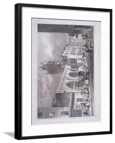 St Giles Without Cripplegate, London, 1830-W Henshall-Framed Art Print