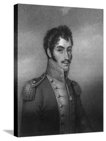 Simon Bolivar, 19th Century South American Revolutionary-W Holl-Stretched Canvas Print