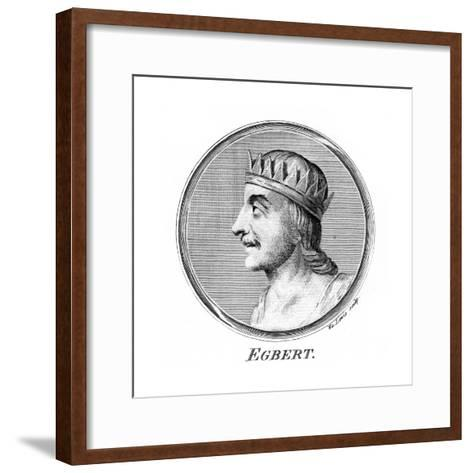 King Egbert of Wessex, First King of All England-W Lewis-Framed Art Print