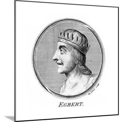 King Egbert of Wessex, First King of All England-W Lewis-Mounted Giclee Print