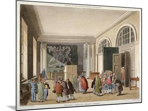Interior of the Excise Office, Old Broad Street, City of London, 1810-Thomas Sutherland-Mounted Giclee Print