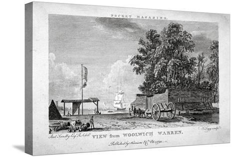View from Woolwich Warren, Kent, 1794-Thomas Tagg-Stretched Canvas Print