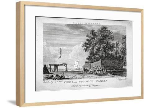 View from Woolwich Warren, Kent, 1794-Thomas Tagg-Framed Art Print