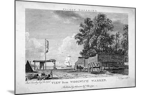 View from Woolwich Warren, Kent, 1794-Thomas Tagg-Mounted Giclee Print