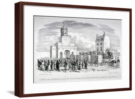 East India Docks, London, C1825-Vear-Framed Art Print