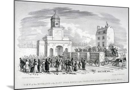 East India Docks, London, C1825-Vear-Mounted Giclee Print