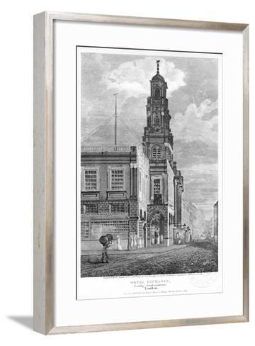 Royal Exchange, Looking South-West, City of London, 1809-W Angus-Framed Art Print