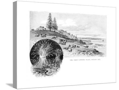 The First Landing Place, Botany Bay, New South Wales, Australia, 1886-W Macleod-Stretched Canvas Print