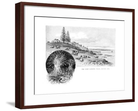 The First Landing Place, Botany Bay, New South Wales, Australia, 1886-W Macleod-Framed Art Print