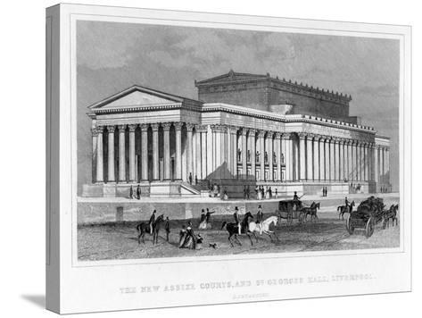 The New Assize Courts, and St George's Hall, Liverpool, Lancashire, 19th Century-Thomas Tallis-Stretched Canvas Print