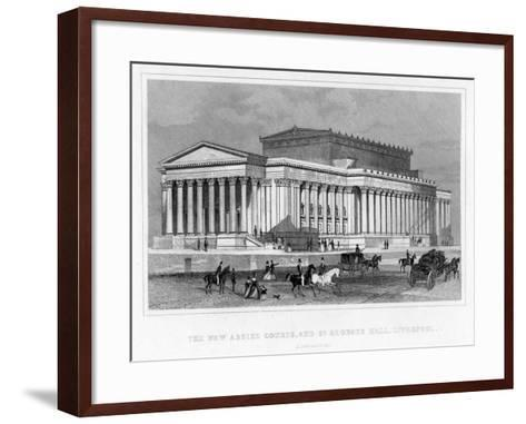The New Assize Courts, and St George's Hall, Liverpool, Lancashire, 19th Century-Thomas Tallis-Framed Art Print
