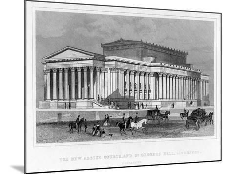 The New Assize Courts, and St George's Hall, Liverpool, Lancashire, 19th Century-Thomas Tallis-Mounted Giclee Print