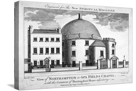 Spa Fields Chapel, Finsbury, London, C1780-Thomas Thornton-Stretched Canvas Print