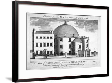Spa Fields Chapel, Finsbury, London, C1780-Thomas Thornton-Framed Art Print
