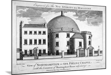 Spa Fields Chapel, Finsbury, London, C1780-Thomas Thornton-Mounted Giclee Print