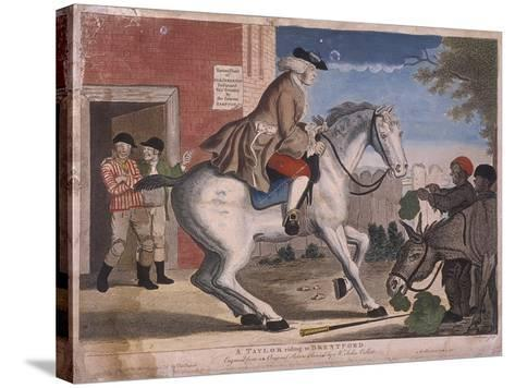 A Taylor Riding to Brentford, 1786-TS Stayner-Stretched Canvas Print