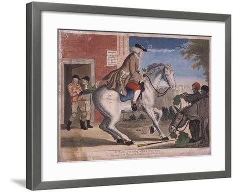 A Taylor Riding to Brentford, 1786-TS Stayner-Framed Art Print