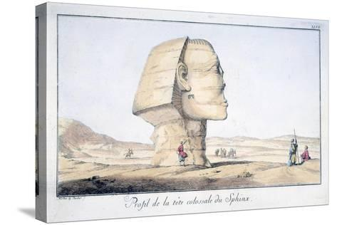 Great Sphinx Head in Profile, 18th Century-Tuscher Hafniae-Stretched Canvas Print