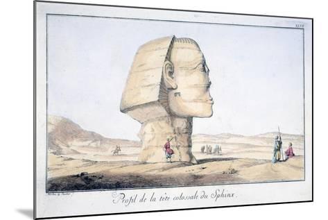 Great Sphinx Head in Profile, 18th Century-Tuscher Hafniae-Mounted Giclee Print