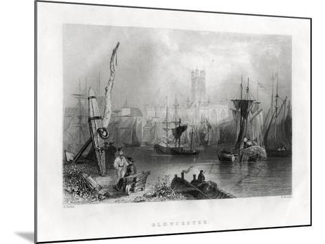 Gloucester, England, 19th Century-W Mossman-Mounted Giclee Print