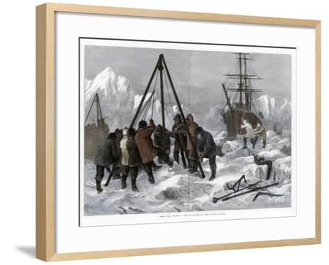 Arctic Life, Cutting a Way Out of the Ice from Winter Quarters, 1875-W Palmer-Framed Art Print