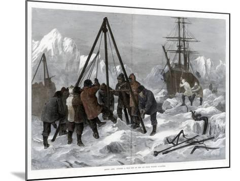 Arctic Life, Cutting a Way Out of the Ice from Winter Quarters, 1875-W Palmer-Mounted Giclee Print