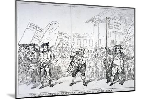 The Westminster Deserter Drum'D Out of the Regiment, 1784-Thomas Rowlandson-Mounted Giclee Print