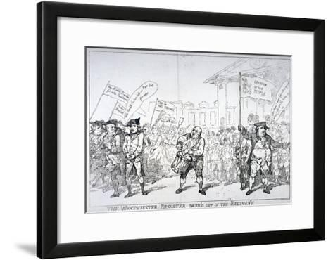 The Westminster Deserter Drum'D Out of the Regiment, 1784-Thomas Rowlandson-Framed Art Print