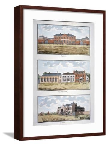 Three Buildings in St George's Fields, Southwark, London, C1790-Thomas Trotter-Framed Art Print