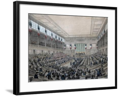 The National Assembly Is in Permanence!, Paris, 15 May 1848-Victor Adam-Framed Art Print