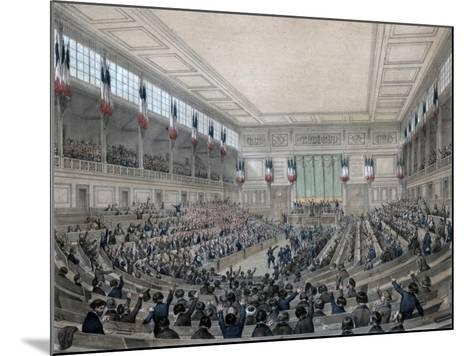 The National Assembly Is in Permanence!, Paris, 15 May 1848-Victor Adam-Mounted Giclee Print