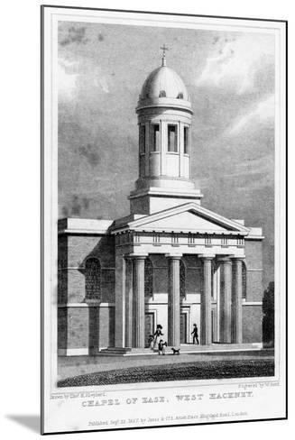Chapel of Ease, West Hackney, London, 1827-W Bond-Mounted Giclee Print