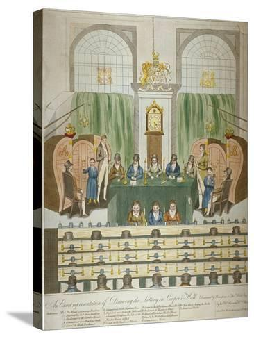 Lottery Draw, Coopers Hall, City of London, 1803-W Charles-Stretched Canvas Print