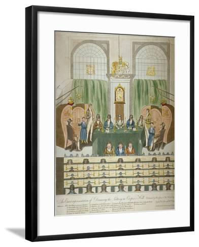Lottery Draw, Coopers Hall, City of London, 1803-W Charles-Framed Art Print