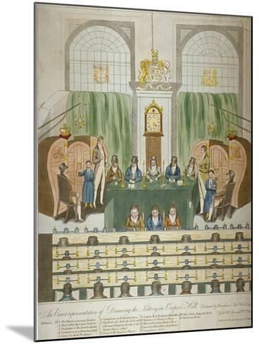 Lottery Draw, Coopers Hall, City of London, 1803-W Charles-Mounted Giclee Print
