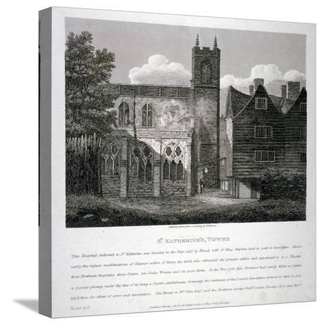 Church of St Katherine by the Tower, Stepney, London, 1810-W Preston-Stretched Canvas Print