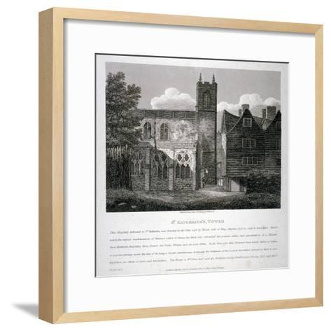 Church of St Katherine by the Tower, Stepney, London, 1810-W Preston-Framed Art Print