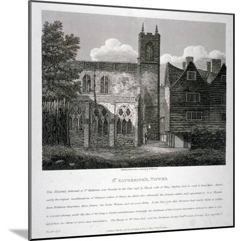 Church of St Katherine by the Tower, Stepney, London, 1810-W Preston-Mounted Giclee Print