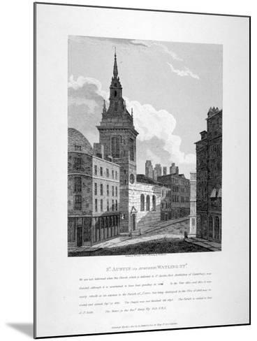 St Augustine, Watling Street, City of London, 1810-W Preston-Mounted Giclee Print