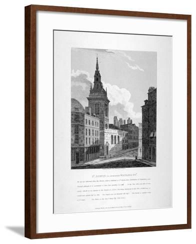 St Augustine, Watling Street, City of London, 1810-W Preston-Framed Art Print