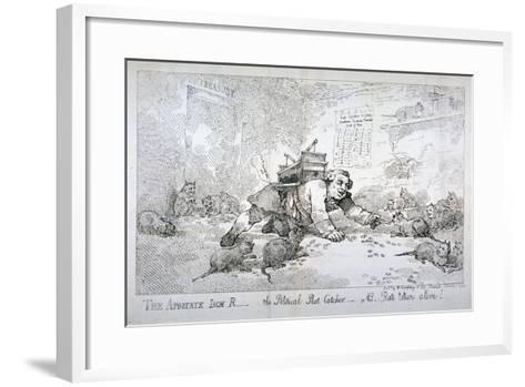 The Apostate Jack R - the Political Rat Catcher - Nb. Rats Taken Alive!, 1784-Thomas Rowlandson-Framed Art Print