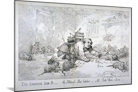 The Apostate Jack R - the Political Rat Catcher - Nb. Rats Taken Alive!, 1784-Thomas Rowlandson-Mounted Giclee Print