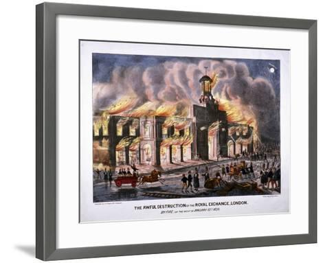 Royal Exchange (2N) Fire, London, 1838-W Clerk-Framed Art Print